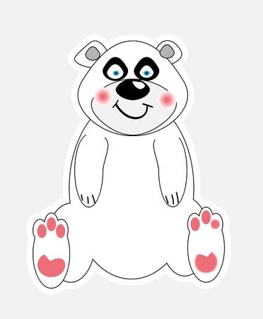 antarctic: cute polar bear vector illustration  Illustration