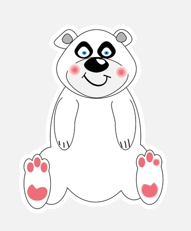 cute polar bear vector illustration Stock Vector - 10603215