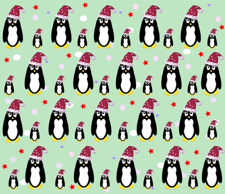 penguin background vector Vector