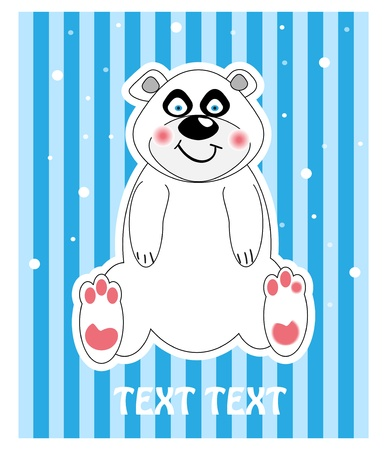 Vector background of a cute polar bear  Stock Vector - 10603216