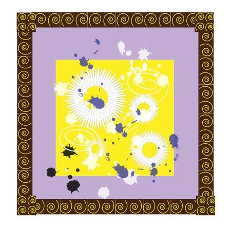 camomile tea: Camomile frame vector