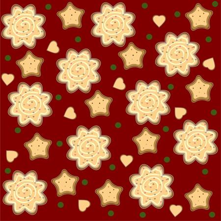 christmas ginger seamless pattern vector Vector