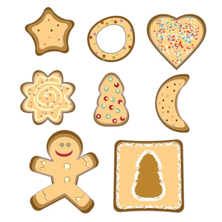 brown sugar: gingerbread isolated vector