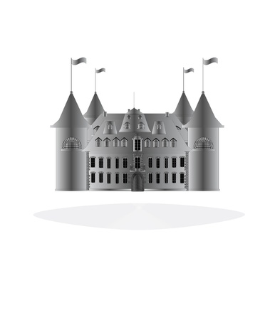 Fairy-tale castle on white background. Stock Photo - 11097437