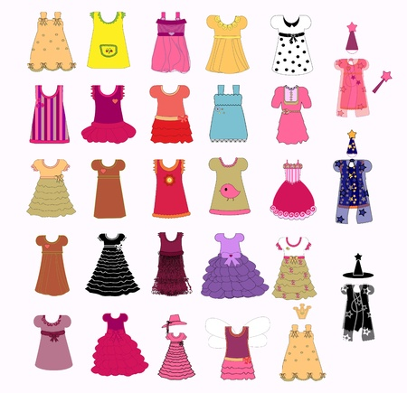 habiliment: dress collection vector