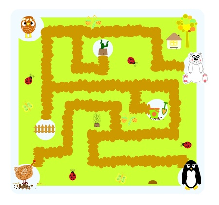 funny vector labyrinth for children  Illustration