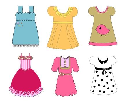 night dress: vector, dress Illustration