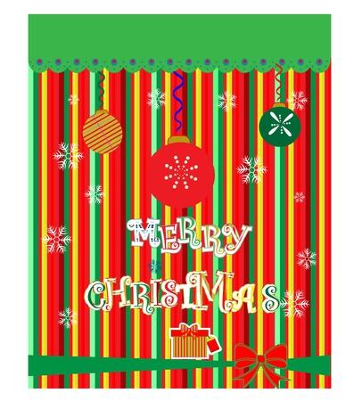 Christmas greeting card  vector cartoon illustration  Vector