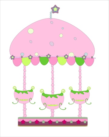 carousel vector Illustration