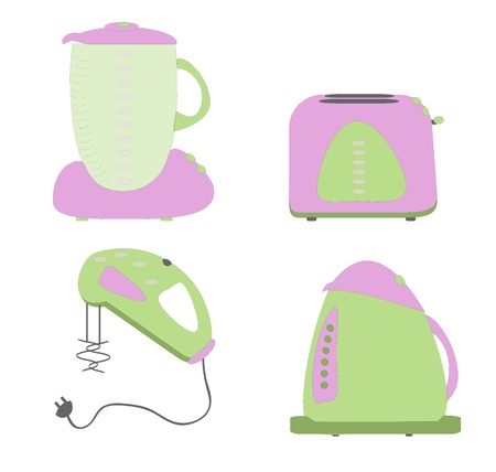 slaughter: kitchen electric stuff vector