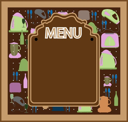 Restaurant menu design vector Vector