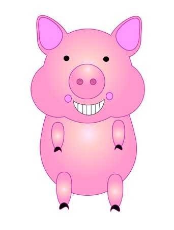 Running pig, cartoon. vector Vector