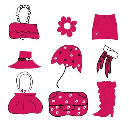 fashion set vector Illustration