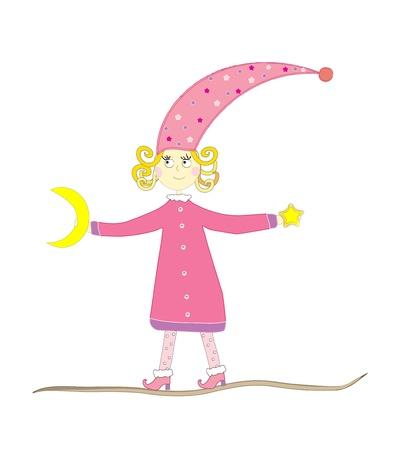 vector illustration of a fairy girl Stock Vector - 12480422