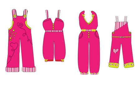 overalls: overall. clothes for baby vector Illustration