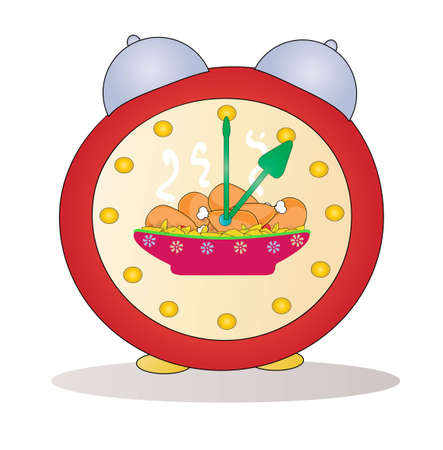 Cartoon alarm clock vector Stock Vector - 12480485
