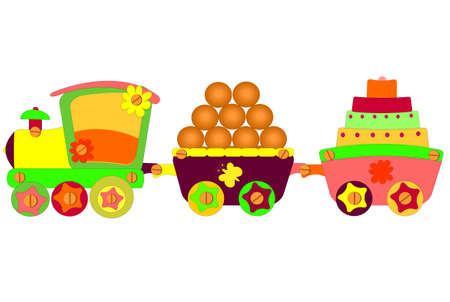Locomotief vector Stockfoto - 12480498