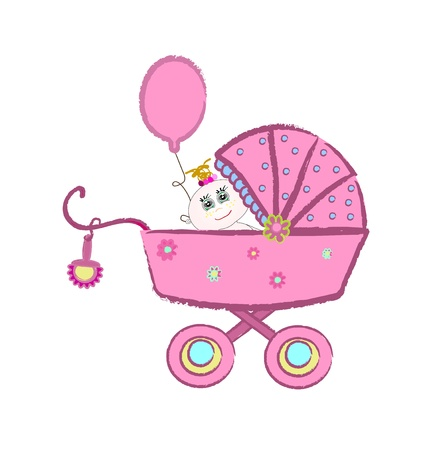 Baby carriage Stock Vector - 12838064