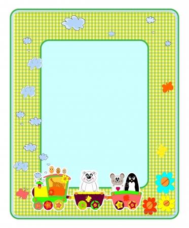 Childrens photo framework. Bears. Vector illustration.