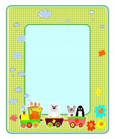 Childrens photo framework. Bears. Vector illustration.  Vector