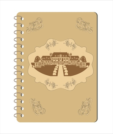 old notebook vector Vector