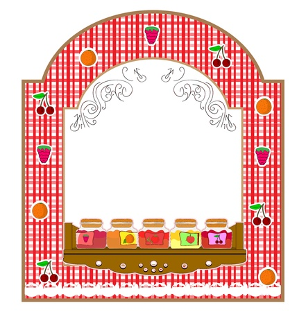 marmalade: vaso con frutta
