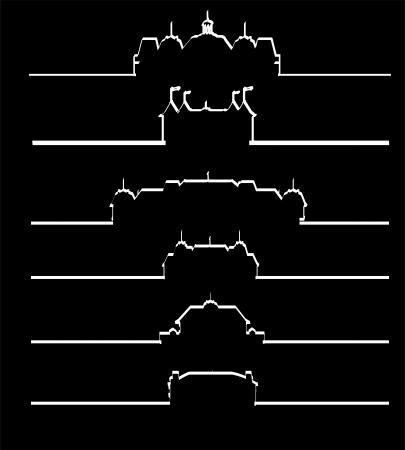 gable: Castle collection silhouette  Illustration
