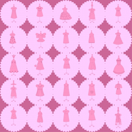 Seamless fashion pattern vector Vector