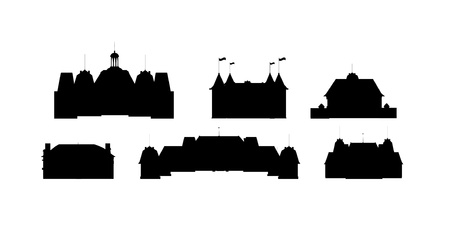fortresses: Silhouettes of castles vector