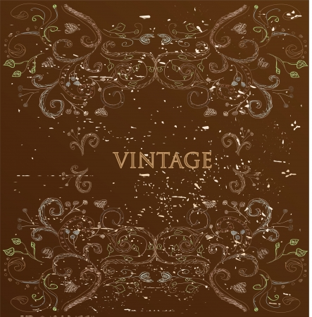 Vintage brown card  Stock Vector - 14768656