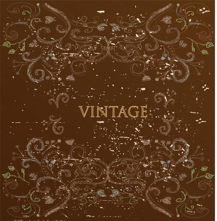 Vintage brown card Stock Vector - 14768656
