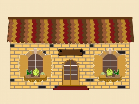 front porch: house vector