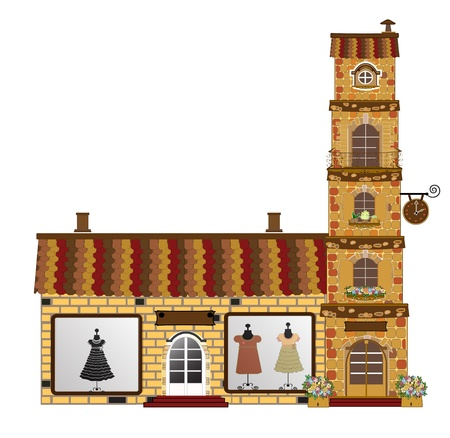 shop window display: facades