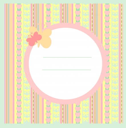 Card for greeting or congratulation on the pink background Stock Vector - 16244909