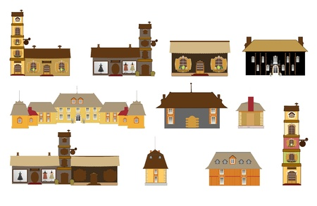 plaza:  original houses, icons, signs
