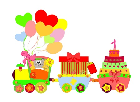 Cartoon Locomotief Stockfoto