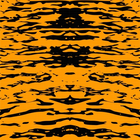 Tiger skin. Abstract yellow seamless pattern