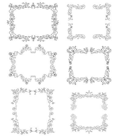 ornaments photo frames illustrations in vector Vector