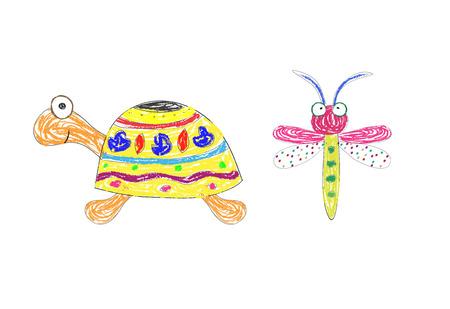 Funny turtle,vector Vector