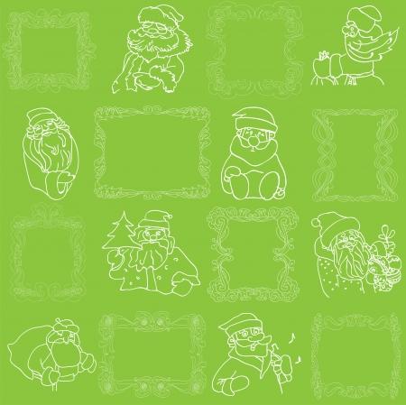 Seamless Christmas Wallpaper Pattern Vector