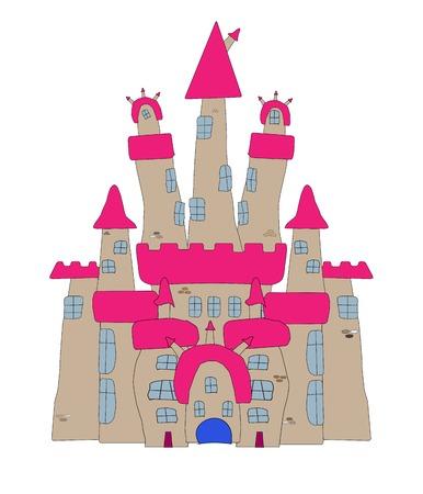 Vector Illustration of a Cartoon Castle Stock Vector - 22857607