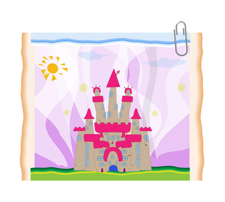 FairyTale castle illustration.  Stock Vector - 22857364
