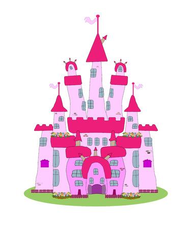 Pink Castle - Vector Stock Vector - 22857365