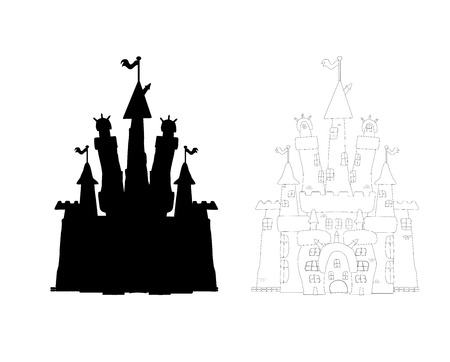 Outlined castle Stock Vector - 22857369
