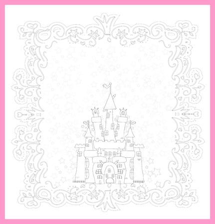 fairy tale princess: Illustration of Magic Fairy Tale  Princess Castle Illustration