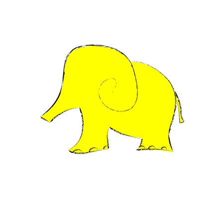 elephant art illustration cut  zoo animal Vector