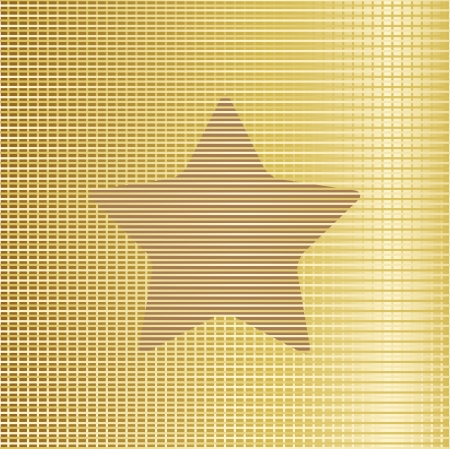 Gold star background. Vector