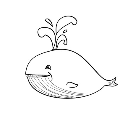 orcinus: happy whale cartoon