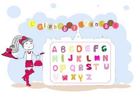 u  k: Colorful alphabets Illustration