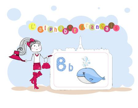 francais: alphabet francais. French alphabet, vector